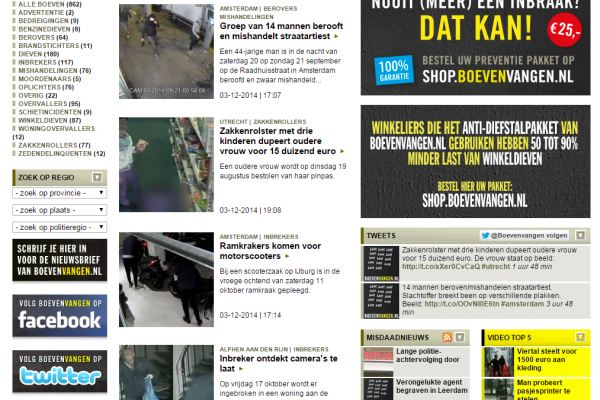 Boevenvangen.nl, de opsporings- en preventiesite van Nederland